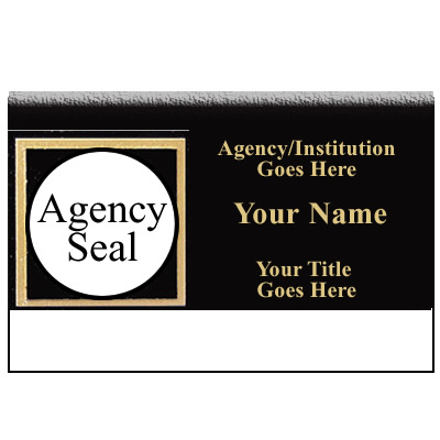 UNICOR Shopping: Name Badge, BLACK/GOLD
