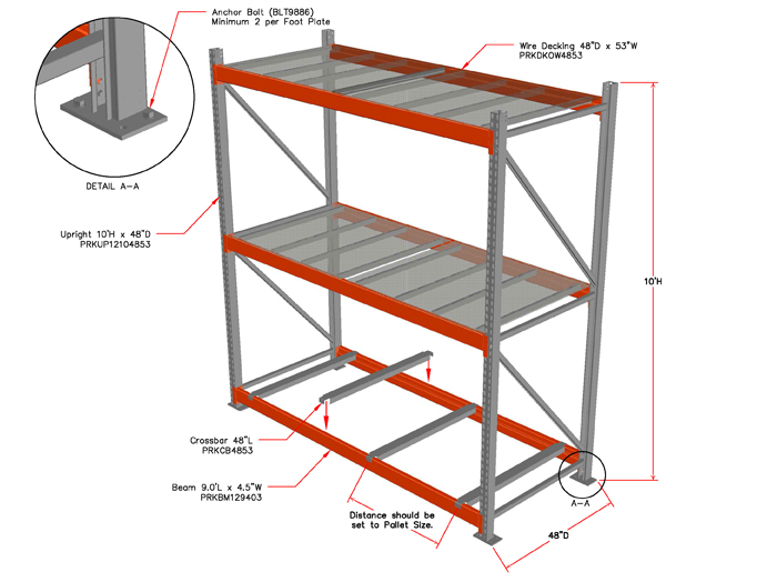 Unicor Shopping Warehouse Pallet Racks Category