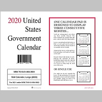Gs Pay Calendar 2020 UNICOR Shopping: Calendars and Planners