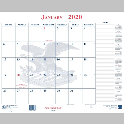UNICOR Shopping: BOP Calendar Desk Blotter
